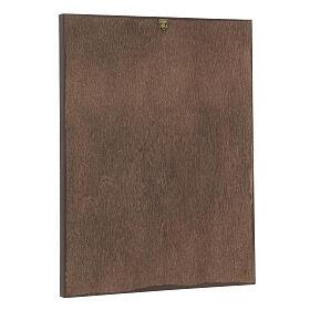 Vía Crucis impreso madera 15 estaciones con cruces 30x25 cm s16