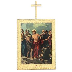 Via Crucis stampa in legno 15 stazioni con croci 30x25 cm s10