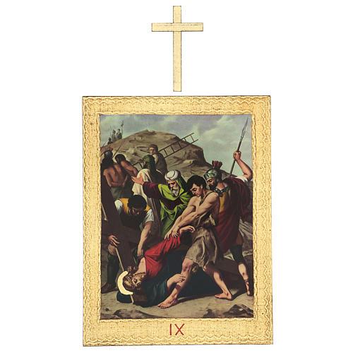 Via Crucis stampa in legno 15 stazioni con croci 30x25 cm 9