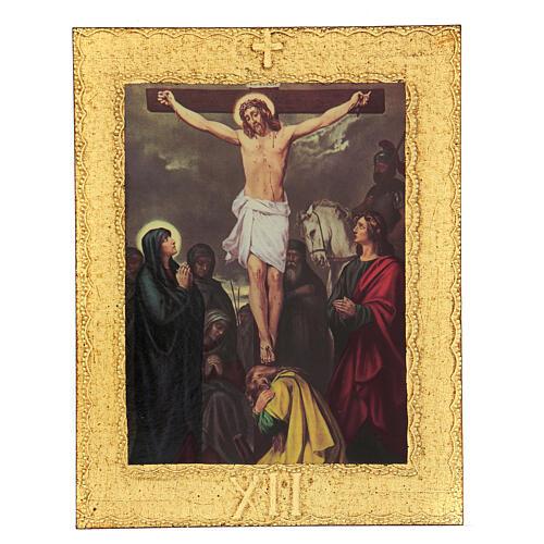 STOCK Vía Crucis 15 estaciones impreso sobre madera 13