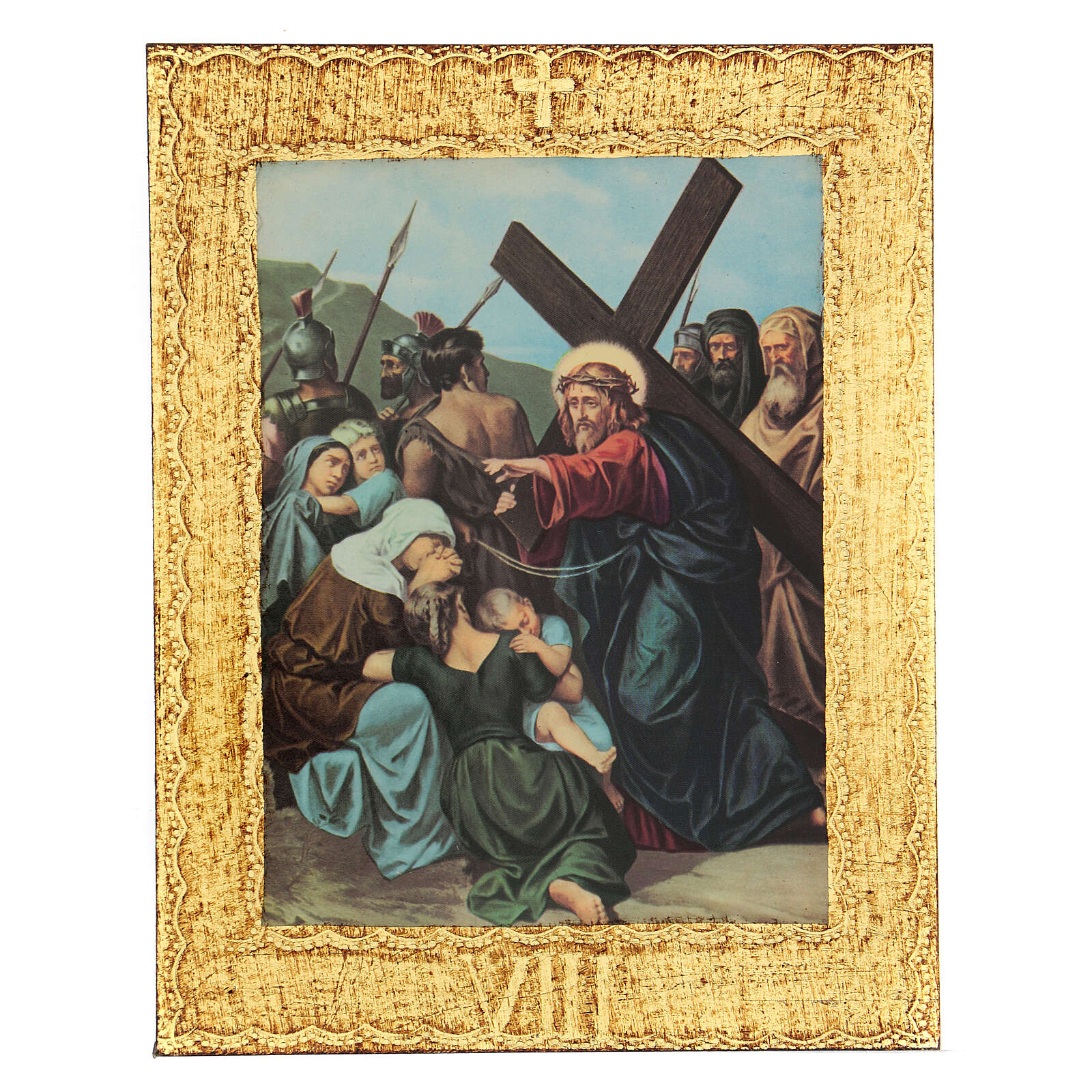 STOCK Way of the Cross 15 stations printed on wood 4
