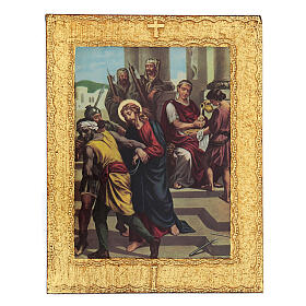 STOCK Way of the Cross 15 stations printed on wood s1
