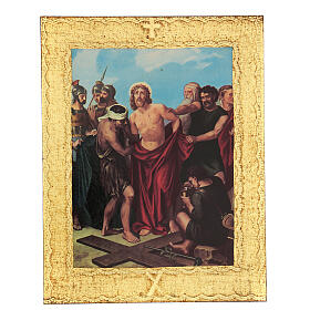 STOCK Way of the Cross 15 stations printed on wood s10