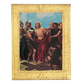 STOCK Way of the Cross 15 stations printed on wood s11