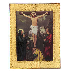 STOCK Way of the Cross 15 stations printed on wood s13