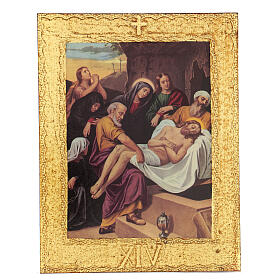 STOCK Way of the Cross 15 stations printed on wood s15