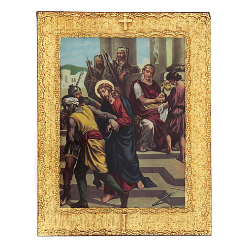 STOCK Way of the Cross 15 stations printed on wood 1