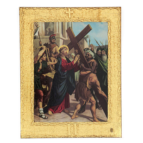 STOCK Way of the Cross 15 stations printed on wood 2