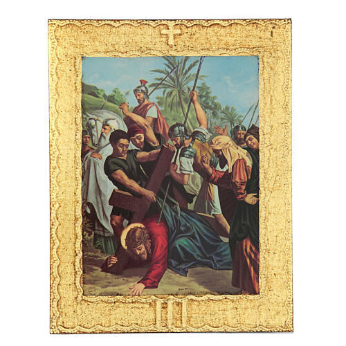 STOCK Way of the Cross 15 stations printed on wood 3
