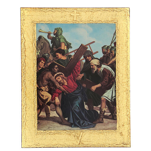 STOCK Way of the Cross 15 stations printed on wood 5