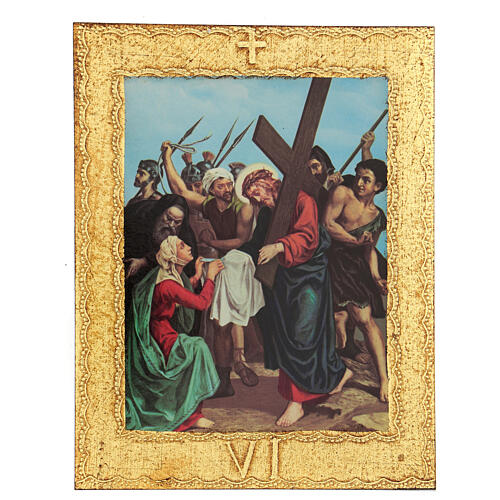 STOCK Way of the Cross 15 stations printed on wood 6