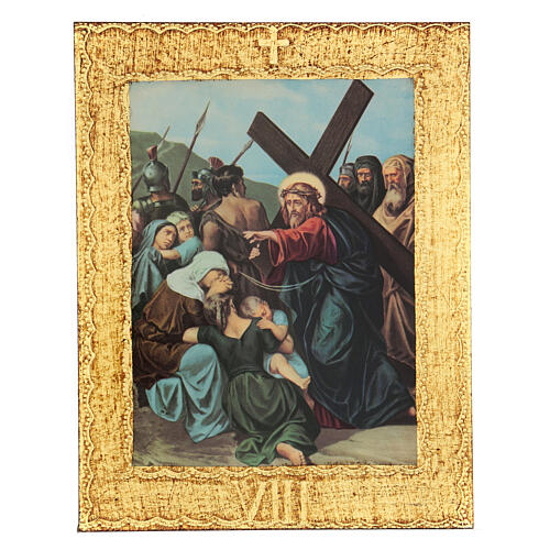 STOCK Way of the Cross 15 stations printed on wood 8