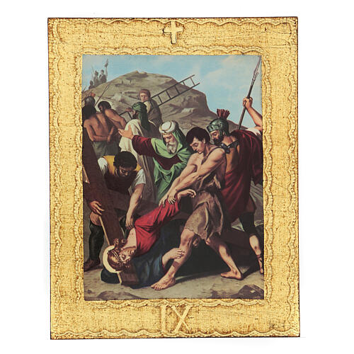 STOCK Way of the Cross 15 stations printed on wood 9