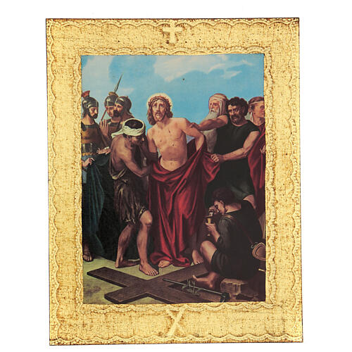 STOCK Way of the Cross 15 stations printed on wood 10