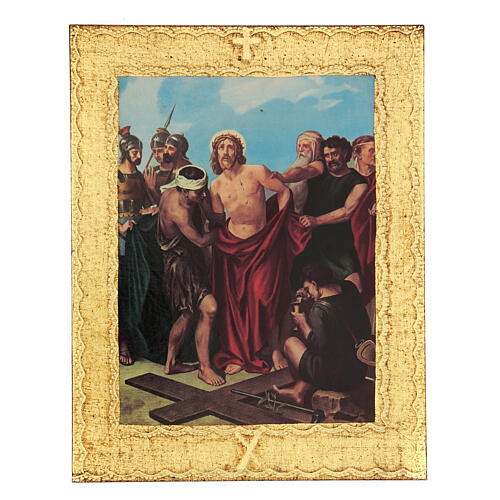 STOCK Way of the Cross 15 stations printed on wood 11