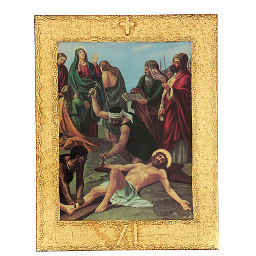 STOCK Way of the Cross 15 stations printed on wood 12