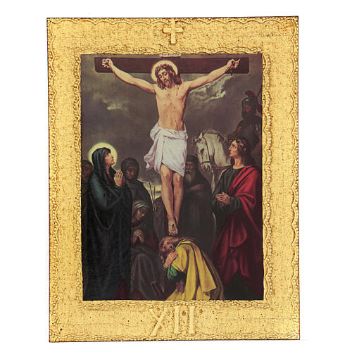 STOCK Way of the Cross 15 stations printed on wood 13