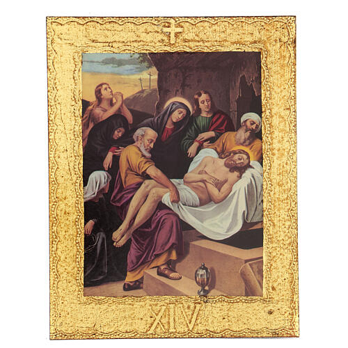 STOCK Way of the Cross 15 stations printed on wood 15