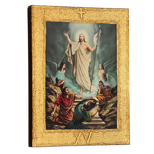 STOCK Way of the Cross 15 stations printed on wood 17