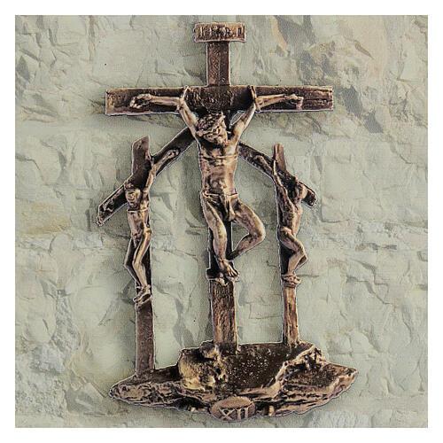 Via Crucis 14 stazioni quadretti stampa 17x17 cm forex 3D Via Dolorosa