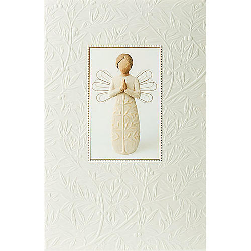 Willow Tree Card - A tree, a prayer (angelo in preghiera) 21x14 1