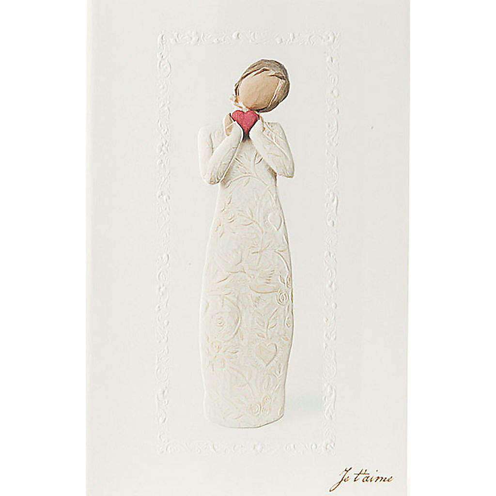 Willow Tree Card - Je t'aime (ti amo) 21x14 4