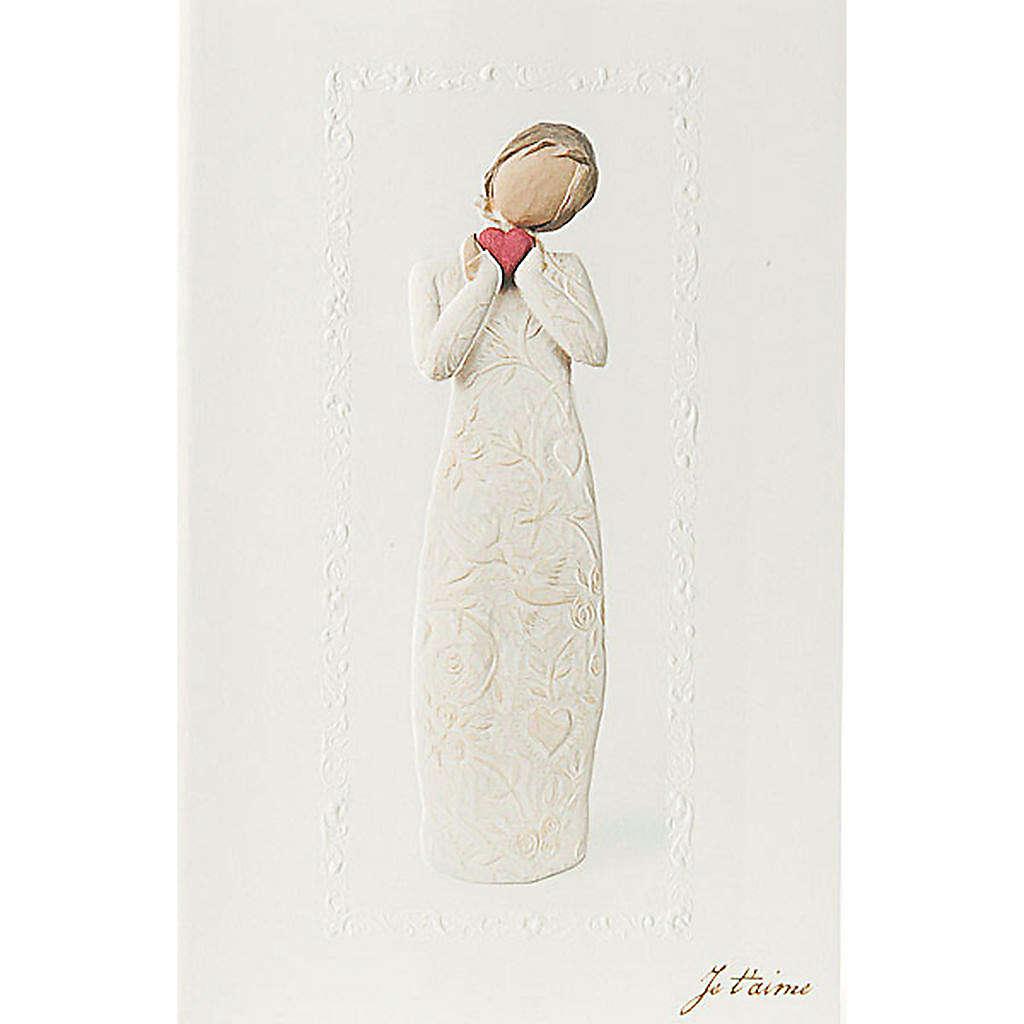 Willow Tree Card- Je t'aime (kocham cię) 21 X 14 4
