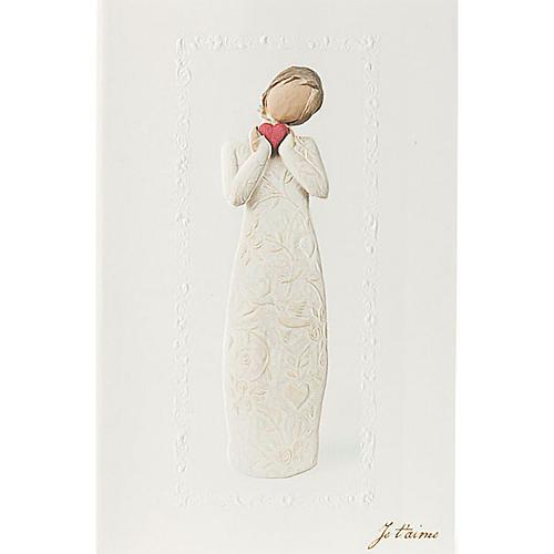 Willow Tree Card- Je t'aime (kocham cię) 21 X 14 1