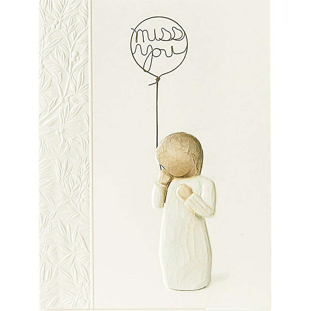 Willow Tree Card-  Miss you (tęsknię..) 14 X 10,5 4