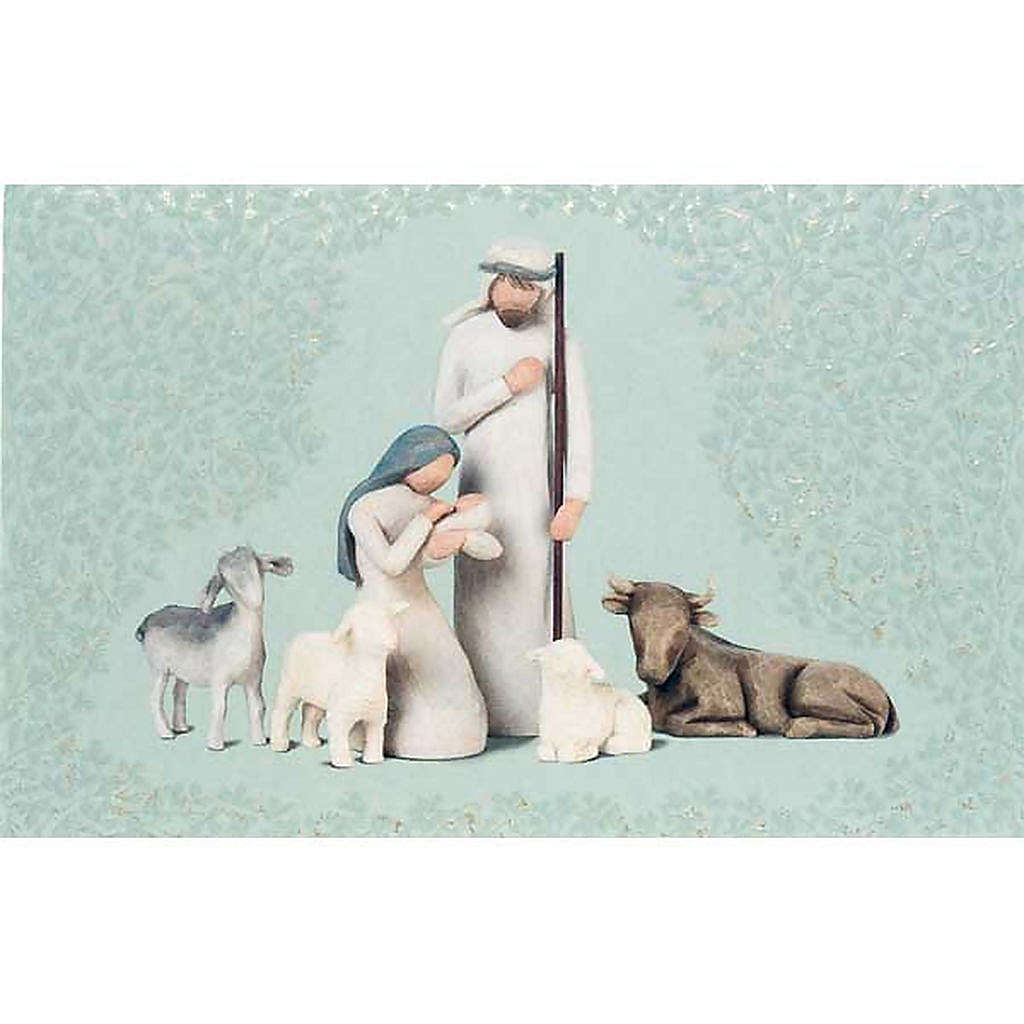 Willow Tree Card - Nativity (natività con bue e pecore) 4