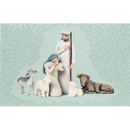 Willow Tree Card - Nativity (natività con bue e pecore) 1