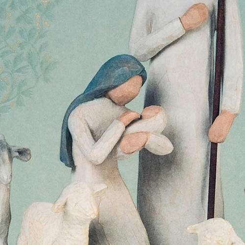 Willow Tree Card - Nativity (natività con bue e pecore) 2