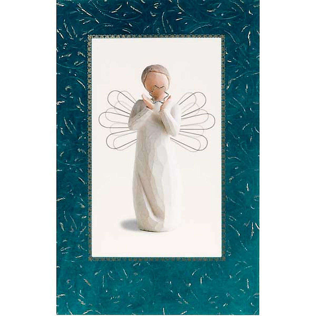 Willow Tree Card - Bright Star (angelo con stella) 4