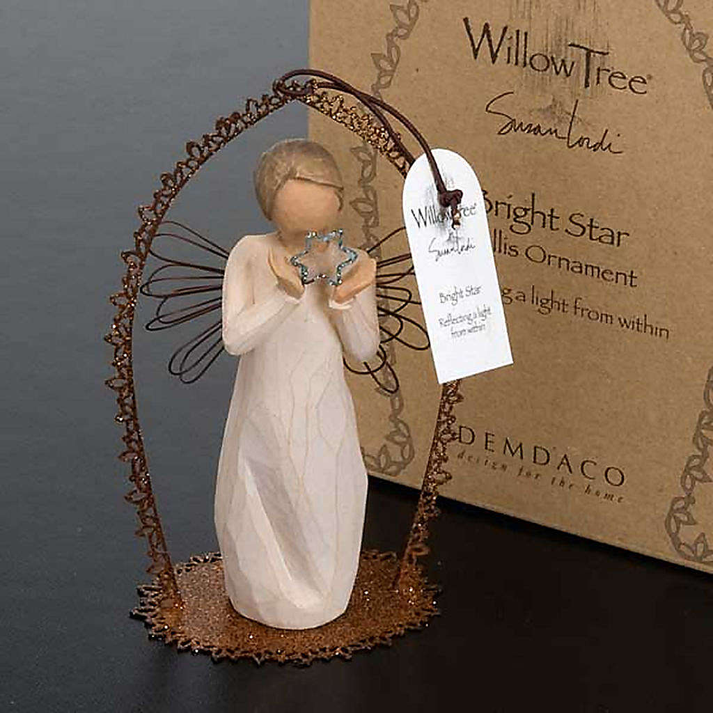 Willow Tree - Bright Star (angelo con stella in cornice) 4