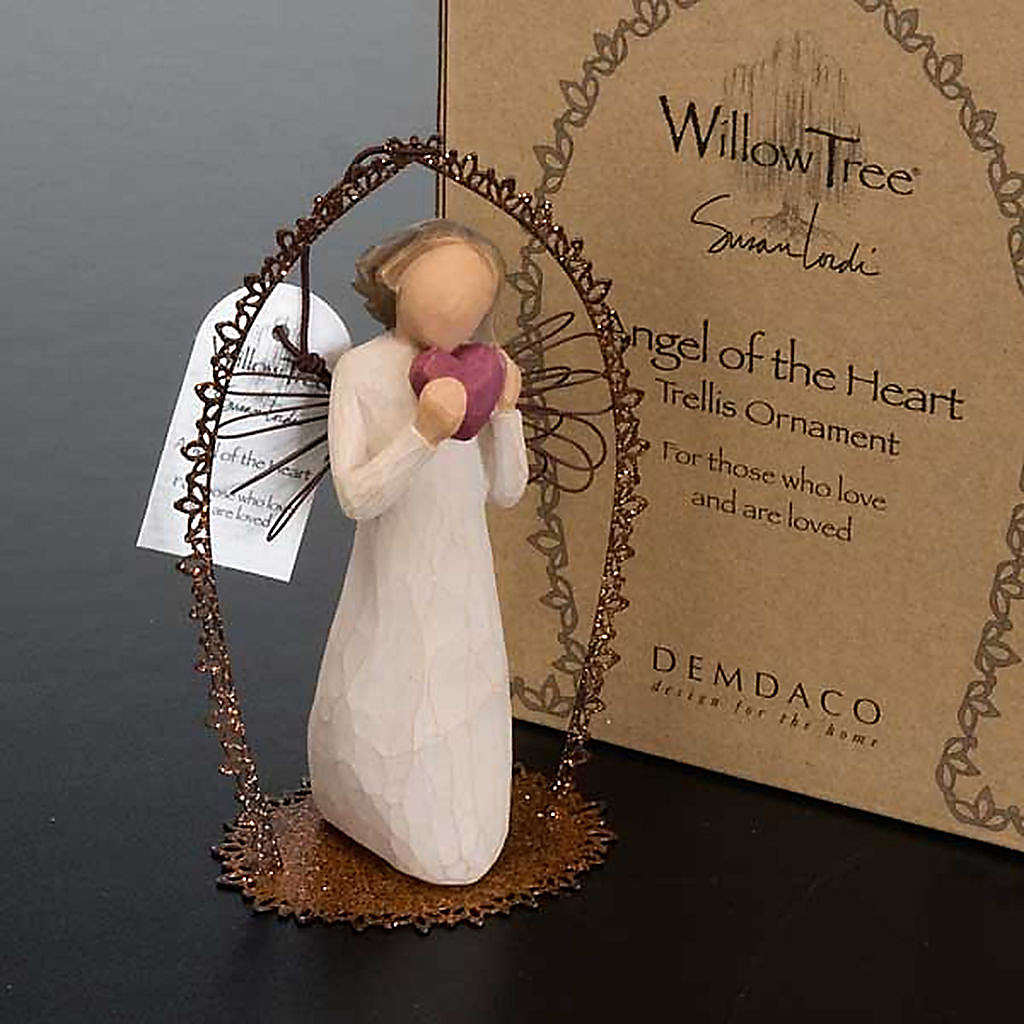 Willow Tree - Angel of the Heart (angelo con cuore cornice) 4