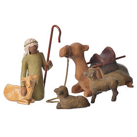 Willow Tree - Shepard and stable Animals (Berger avec animaux) 19cm s1