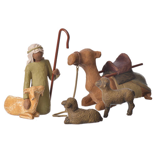 Willow Tree - Shepard and stable Animals (Berger avec animaux) 19cm 1