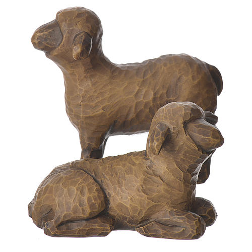 Willow Tree - Shepard and stable Animals (Berger avec animaux) 19cm 6