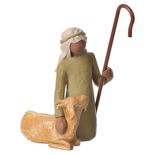 Willow Tree - Shepard and stable Animals (Pastore con animali) 19cm 2